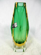 Beautiful Cristalleria G. Campanella Sommerso Murano glass vase Italy 16,5 cm