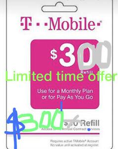 T-Mobile Prepaid Refill $300