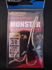 """Owner Dancing Stinger Monster Version Hook 3/0 Long 5283-139 line 2 1/4"""" 180 lb."""