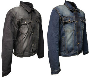 Roleff Racewear Motorradjacke -  Jeansjacke mit Aramideinlagen & Protektoren