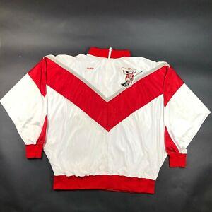 Vintage 90s UNLV Runnin Rebels Hey Reb! Logo Rawlings Satin Zip Jacket 44 XL