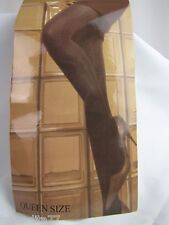 Stylish and Warm Tights Seamless Patterns Black Queen Size NWT
