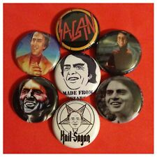 "CARL SAGAN 1"" buttons pinbacks COSMOS SCIENCE SPACE STARS BIG BANG HAIL SAGAN"