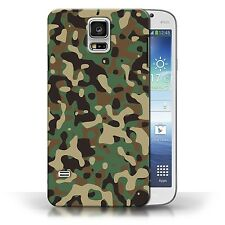 STUFF4 Case/Cover for Samsung Galaxy S5/SV/Army/Navy/Camouflage/Green 3