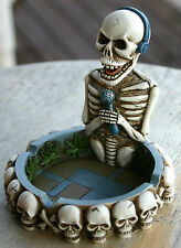 Cannabis Marijuana Skeleton Singer Novelty Ashtray