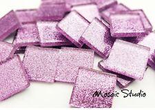 Glitter Tiles 23x23mm - Lilac x 36pc