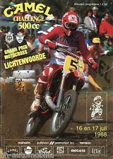 Programm Camel Challenge 500 CC 1988 Grand Prix Moto Cross Lichtenvoorde NL