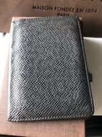100% Authentic Louis Vuitton Taiga Leather Small Black Credit Card Wallet France
