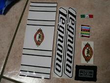 kit stickers adesivi per bici da corsa vintage LEGNANO 7 pezzi scritte nere