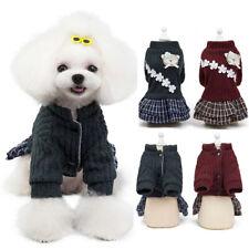 Pet Dog Sweater Puppy Skirt Clothes Princess Tutu Coat Cotton Jacket Apparel