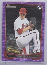 2012 Bowman Baseball Wade Miley Purple Ice Parallel Rookie Card # 10/10