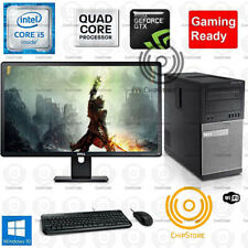 Fortnite GTA Gaming PC Desktop Computer Quad Core i5 750TI 8GB Win10 Bundle