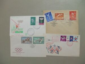 Four Olympic Games fdc