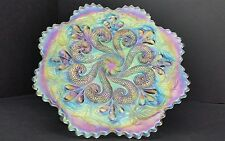 Dugan Question Marks Georgia Belle Puzzle Ext. Pastel White Ice Iridescent Plate