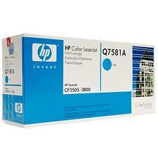 Original HP Toner  Q7581A  cyan blau HP Laserjet CP3505 3800 A-Ware