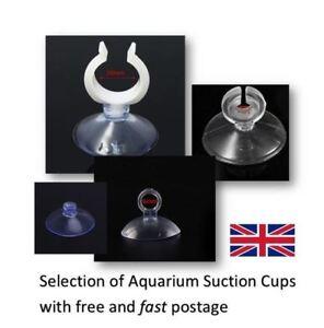 Aquarium Suction Cups Clips 20mm 6mm Suckers Fish Tank Pads Heater Pump Tube UK