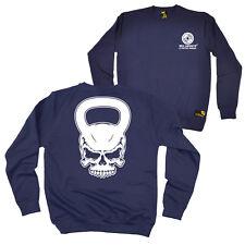 FB Gym Bodybuilding Sweatshirt - Skull Kettlebell - Novelty Sweater Jumper