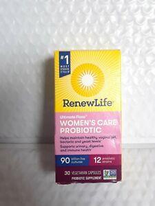 Renew Life Ultimate Flora Women's Care Probiotic 90 Billion -30 Veg exp01/22#004