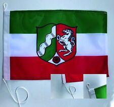 NRW mit Wappen  Bootsfahne Bootsflagge Fahne Schiffsfahne Flagge  45x30cm NEU