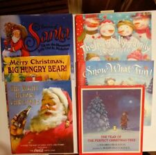 Lot of 6 Children's Christmas Books - Snow What Time - Big Hungry Bear + Some