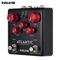 High-class NUX ATLANTIC 3 Delay Reverb Guitar Effect Pedal Dual Footswitch J0B8