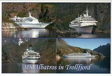 Ms Albatros in Trollfjord, Norway, Cruise Ship, Rare - Transportation Postcard