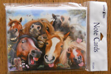 8 Leanin Tree Note Cards LOTS OF HORSES SMILING, MAKING FACES, SELFIES
