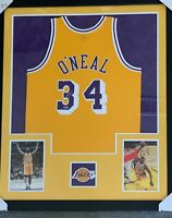 Shaquille O'Neal Signed Framed Mitchell & Ness Lakers Jersey-Beckett COA