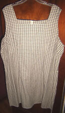 FADED GLORY JEANS CO. Woman's black & white checkered jumper dress size 24W