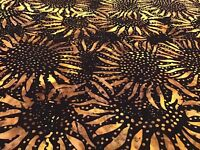 Fabric Hoffman Sunflowers 884-Bumblebee, sold by the yard