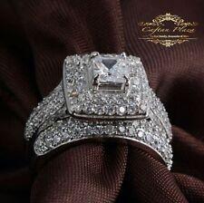 Cubic Zirconia White Gold Wedding Fine Rings