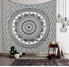 Indien Ethnic Ombre Mandala Bedspread Tapestry Queen Throw Wall Hanging Cotton