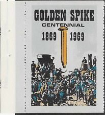 USA patriotisches Stempel: Golden Spike Centennial 1869-1969 - dw743c