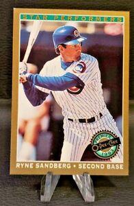 1993 O-Pee-Chee ⚾ Premier Star Performers #4 Ryne Sandberg-Cubs'05🏆HOF. VG/EX