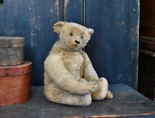 Antique Straw filled Mohair Teddy Bear 17""