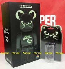 Medicom Be@rbrick 2016 Halloween 400% + 100% Black Cat GID Green Bearbrick Set