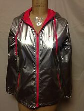 Fila Platinum Woven Jacket M Silver/Neon Pink TW151HW6  New With Defects