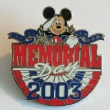 DISNEY WDW MEMORIAL DAY 2003 MICKEY MOUSE STARS RED WHITE AND BLUE LE 3500 PIN