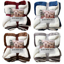 Sherpa Fleece Blanket Quality Warm Plush Twin Queen Throw Bed Couch Winter