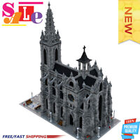 New MOC-29962 Modular Cathedral Building Blocks Set Architecture Bricks Toys