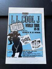ll Cool J NWA Eazy E original concert flyer world tour 89-90 De la soul 4x6