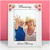 Birthday Flower Photo Frame Gifts PERSONALISED for Mummy Nanny Nanna Granny