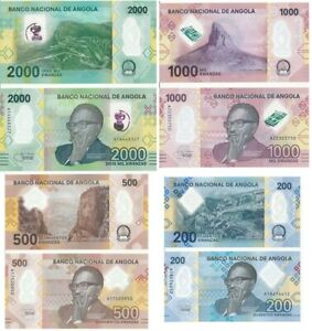 Angola __ set 4 banknotes 200 500 1000 2000 Kwanzas 2020 UNC Lemberg-Zp
