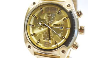 Diesel DZ4299 Overflow Gold-Tone Stainless Steel Chronograph Watch