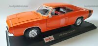 MAISTO 1:18 Diecast Model Car - 1969 Dodge Charger R/T in Orange