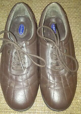DR SCHOLLS  BROWN LEATHER LACE UP OXFORD WEDGE SHOES WOMEN'S 6.5 M