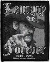 Official Merch Woven Sew-on PATCH Metal Rock Motorhead LEMMY Forever 1945-2015