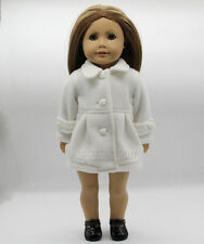 "New Handmade White Doll Clothes Coat Fits 18"" American Girl Dolls"