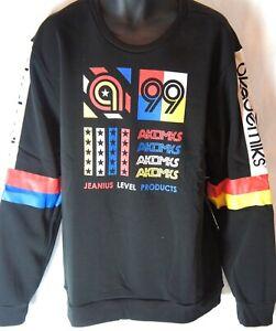 Akademiks sweatshirt, premium 99 AKDMKS JEANIUS LEVEL top hip hop urban black