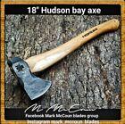 HAND FORGED 18' HUDSON BAY AXE HATCHET  TOMAHAWK BY MARK MCCOUN USA 1.2 LB HEAD
